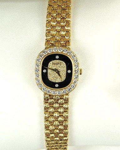 VINTAGE 18K GOLD PIAGET WATCH DIAMONDS BUCHERER