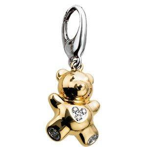 14K GOLD TEDDY BEAR CHARM DIAMOND