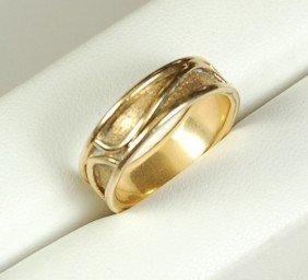 14K GOLD WEDDING BAND HANDMADE 5 GRAMS!