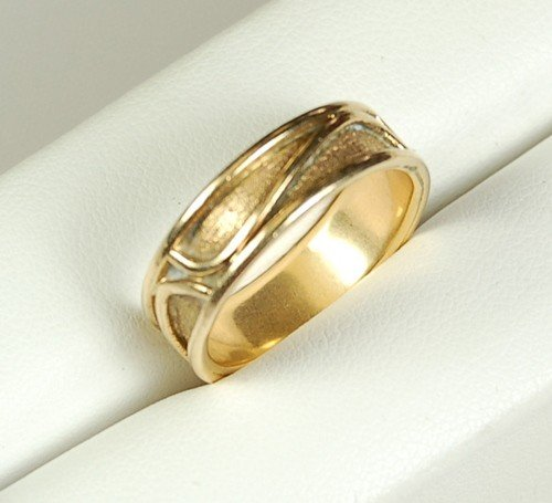 14K GOLD WEDDING BAND HANDMADE 5 GRAMS!