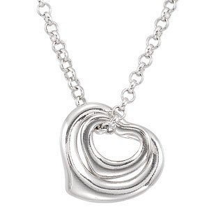 STERLING SILVER NECKLACE 2 FLOATING HEART PENDANTS
