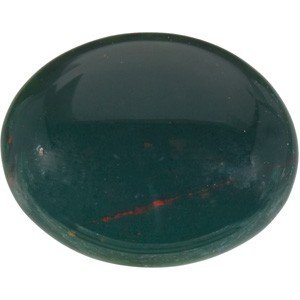 GENUINE BLOODSTONE = FIVE CARATS! OVAL 12 X 10MM