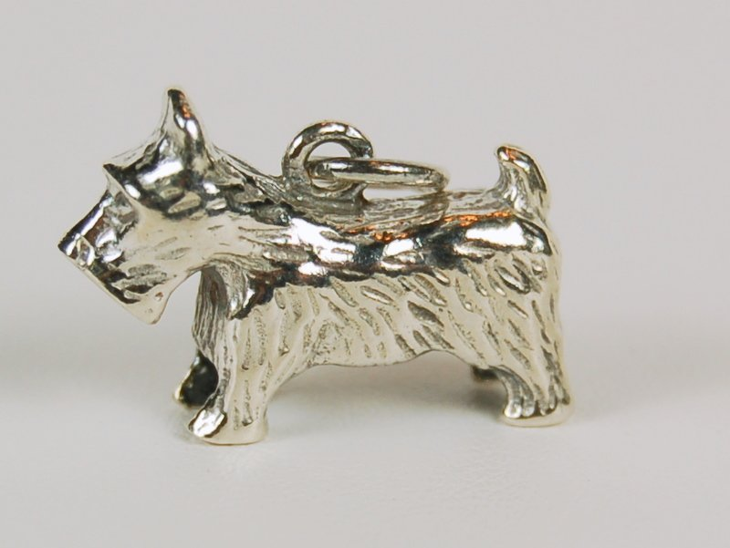 STERLING SILVER SCOTTIE DOG PENDANT OR CHARM