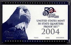 2004 United States Mint State Quarters Proof Set COA