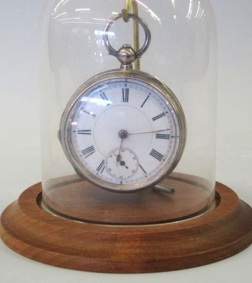 ANTIQUE POCKET WATCH STERLING KEY WOUND SWISS MOVEMENT