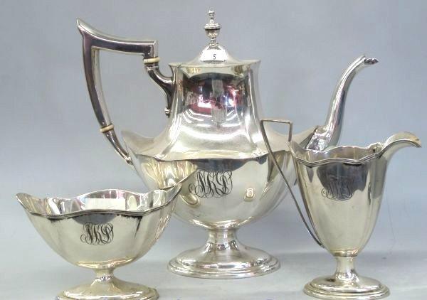 ANTIQUE STERLING SILVER TEA SET 1000 GRAMS!!