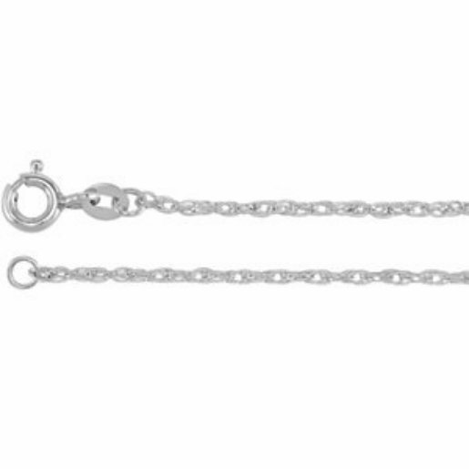 PLATINUM ROPE CHAIN NECKLACE 20 IN LONG and  1.2mm THCK