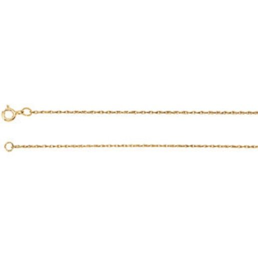 14K YELLOW GOLD NECKLACE 18 INCH CHAIN