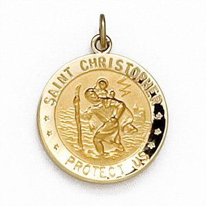 14K GOLD ST. CHRISTOPHER MEDAL U.S. AIR FORCE RETAIL