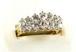 GOLD DIAMOND WEDDING BAND BAILEY BANKS & BIDDLE $5000