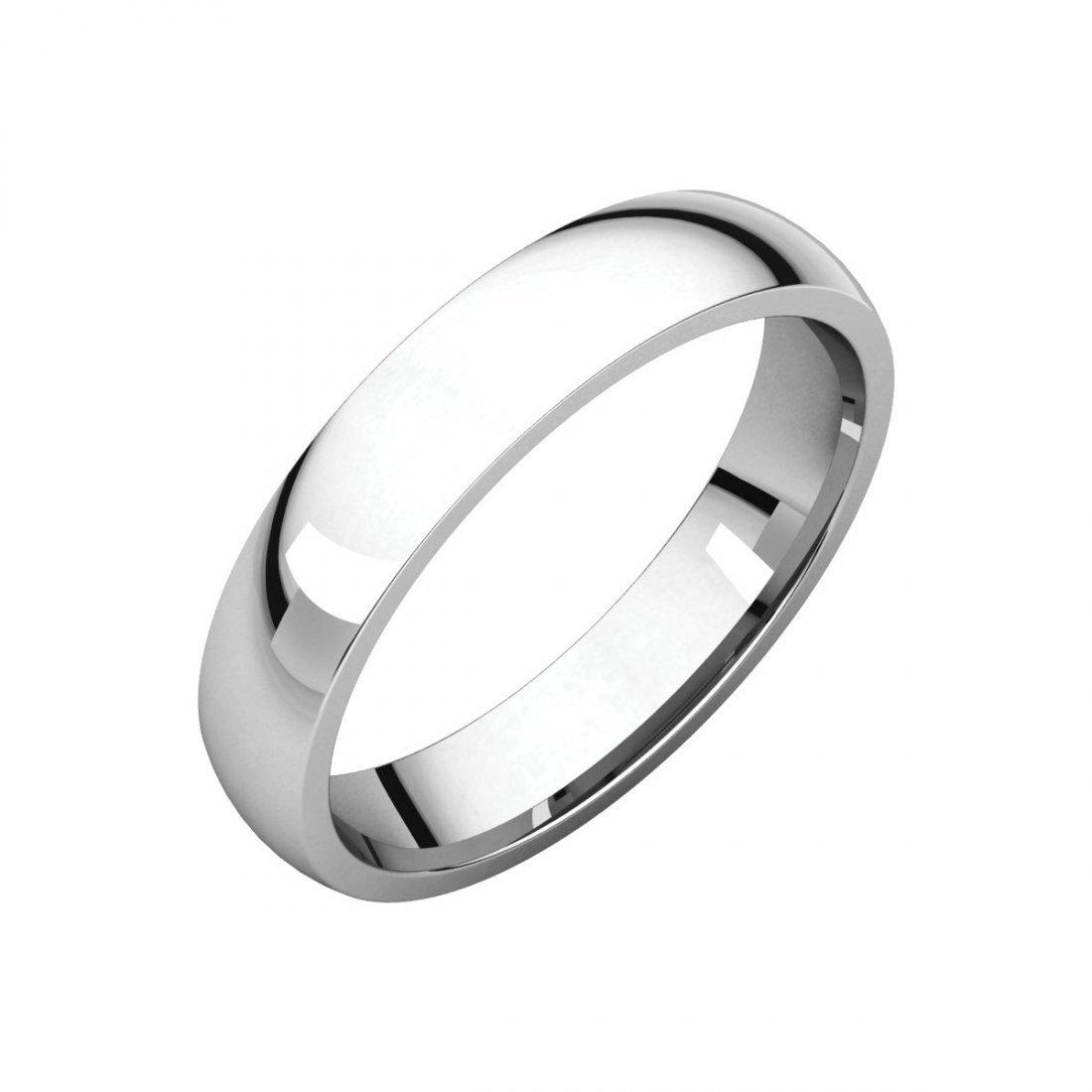 Ring - 14k White Gold 4mm Light Comfort Fit Band