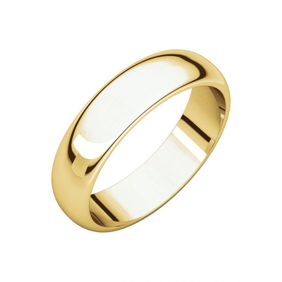 Ring - 10k Yellow Gold 5mm Half Round Band