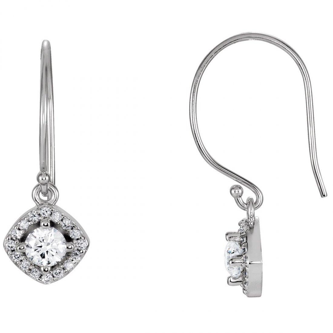 Earrings - 14k White Gold 5/8 CTW Diamond Earrings