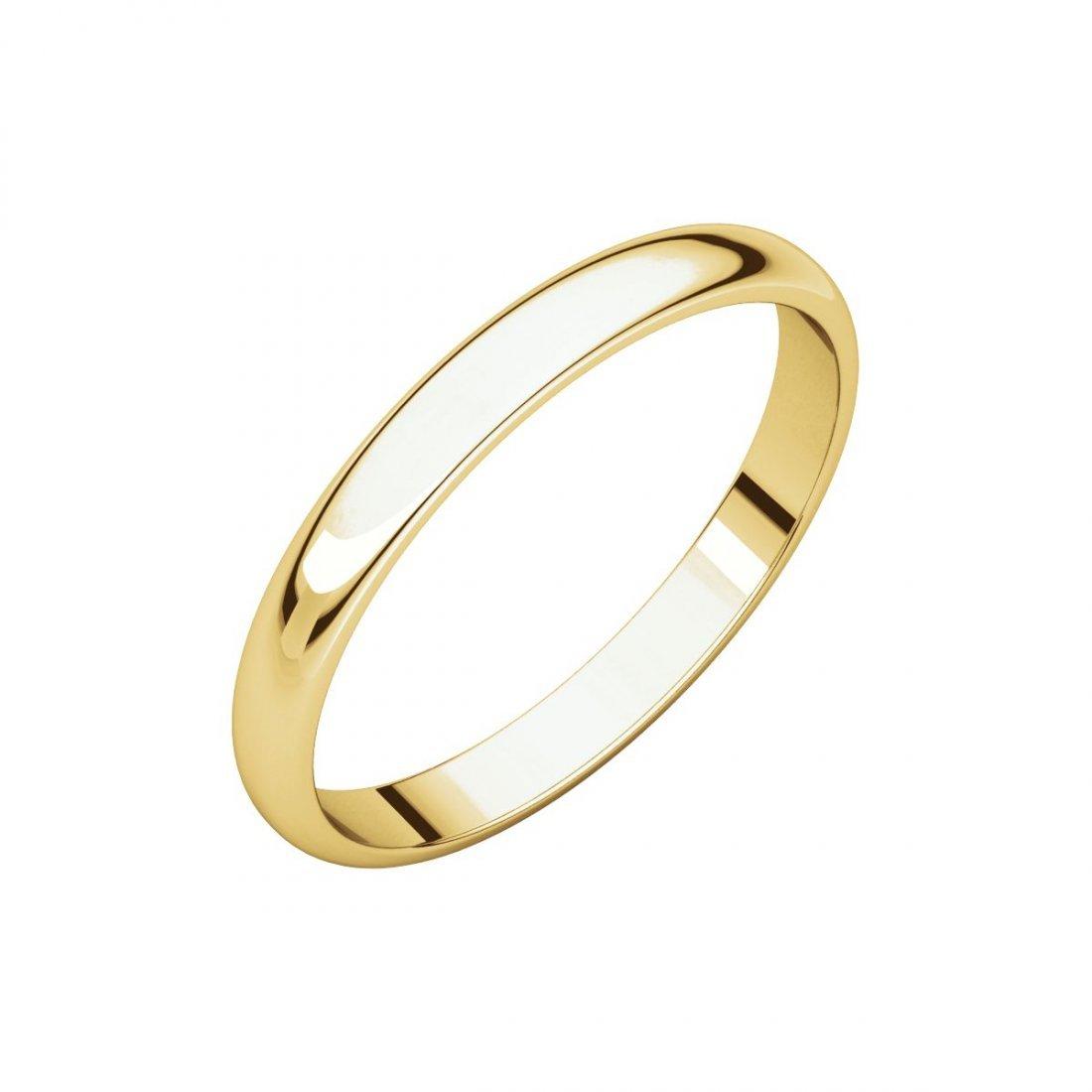 Ring - 10k Yellow Gold 2.5mm Half Round Light Band