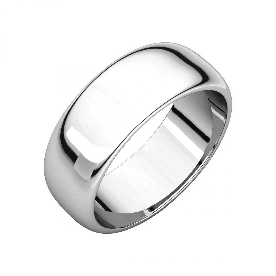 Ring - 14k White Gold 7mm Half Round Band