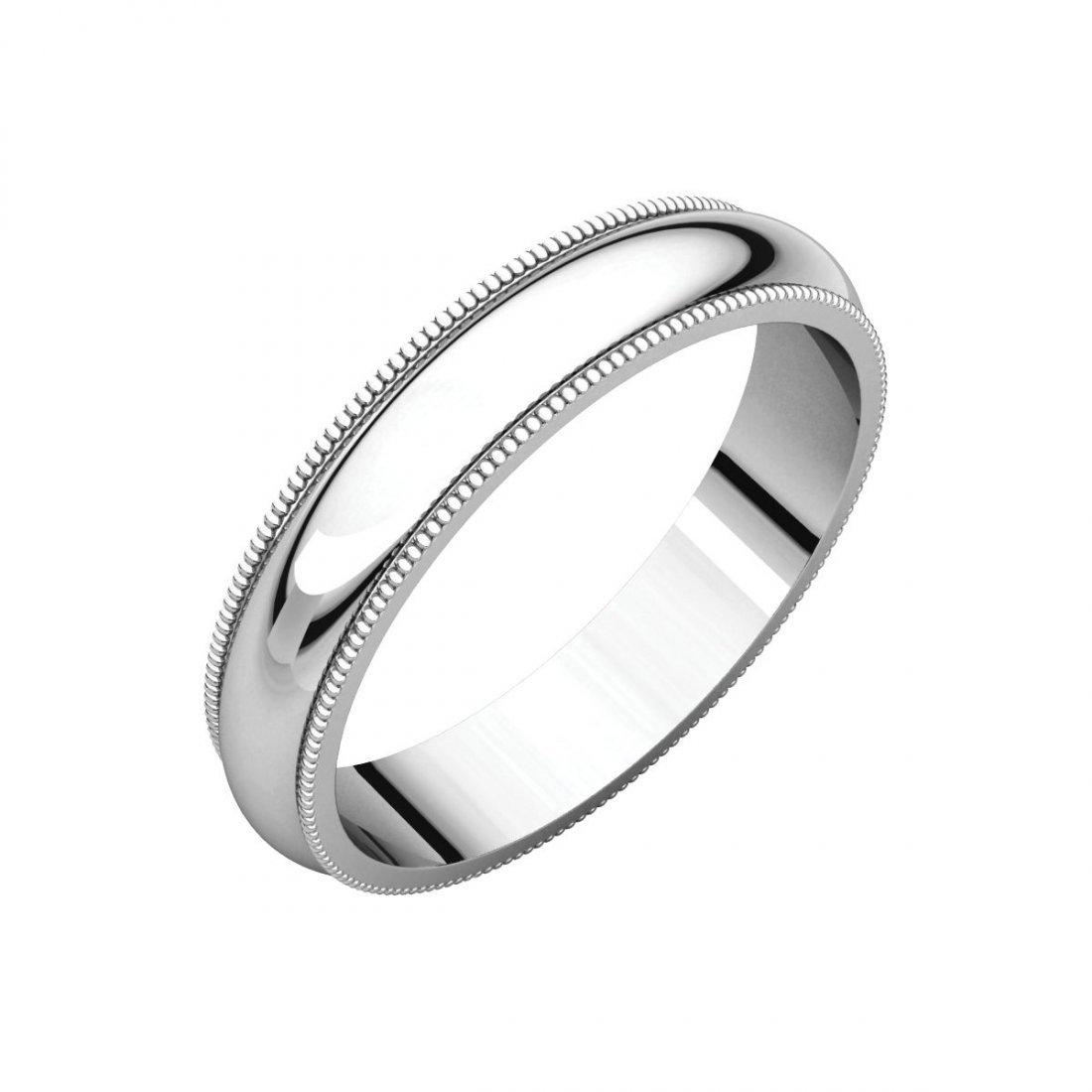 Ring - 14k White Gold 4mm Milgrain Band
