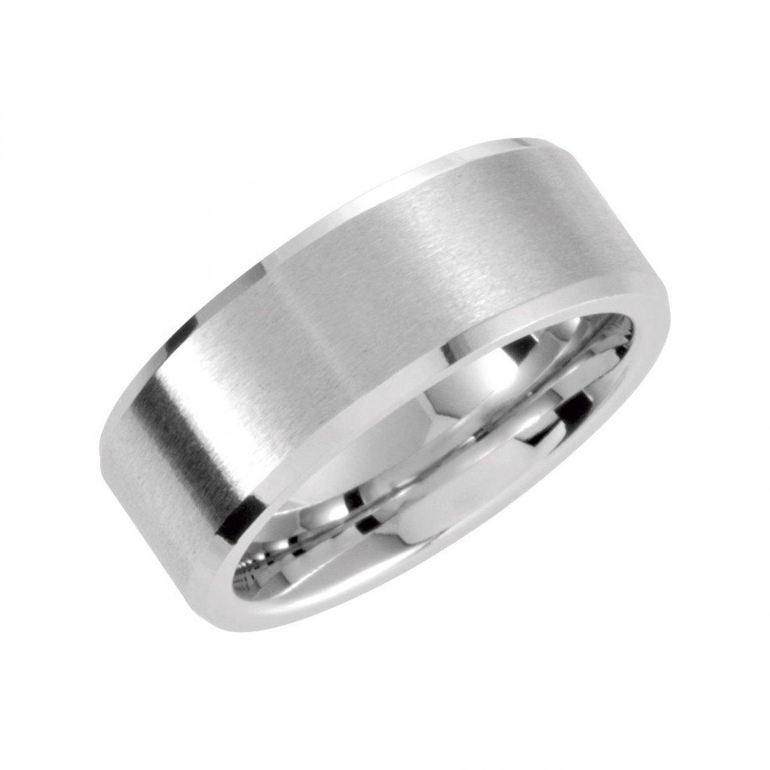 Ring - Cobalt 8mm Rounded Satin & Polished Band Size
