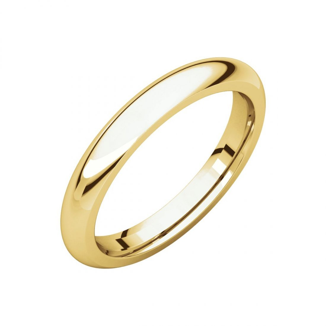 Ring - 14k Yellow Gold 3mm Comfort Fit Band