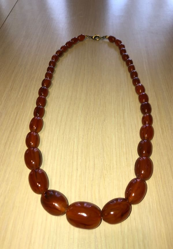 """Vintage Graduated Baltic Amber Bead Necklace 26""""....."""