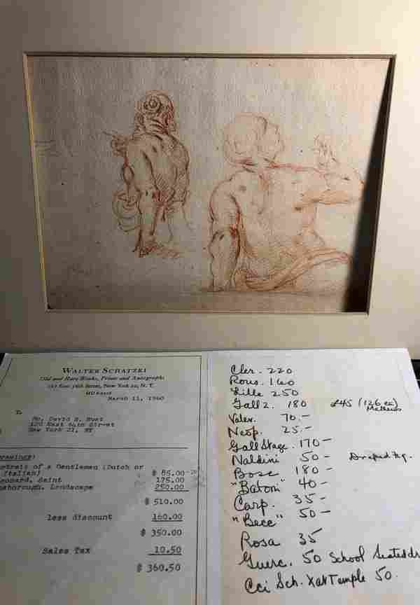 Old Master Red Chalk Drawing from an Estate Collection