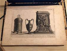 Very Rare c1811 Etching of Ancient Objects by L. Rocche
