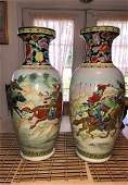 "2 Vintage Very Large Early Chinese Large 24"" Tall War.."