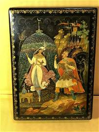 Vtg Scarce Russian Signed by Artist Hand Painted Box...