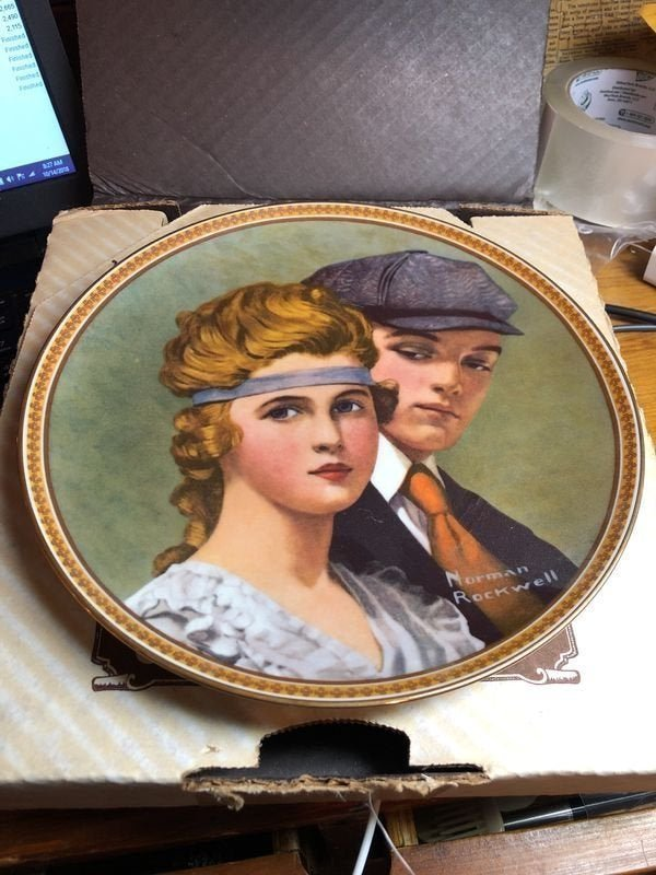 Norman Rockwell's Meeting on the Path Collectors Plate