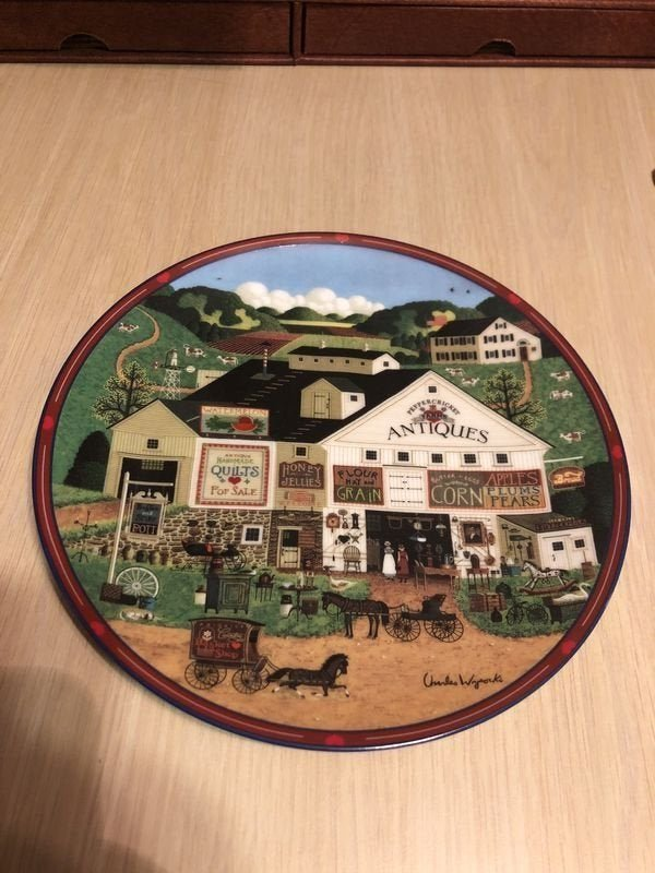 Charles Wysocki's Peppercricket Grove Collectors Plate