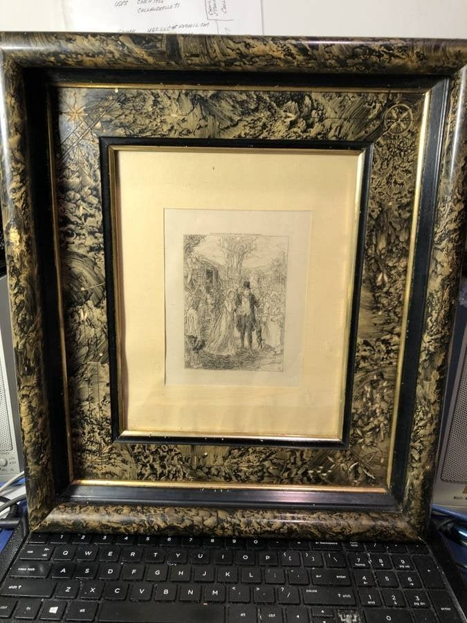 JOHN SLOAN Etching Copyright 1903 by Frederick J Quinby
