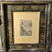 JOHN SLOAN Etching Copyright 1904 by Frederick J Quinby