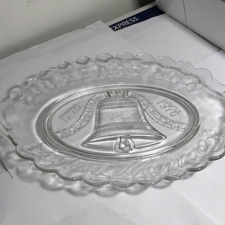 """John Hancock Bicentennial 1776/1976 Platter 13"""" Wide..."""