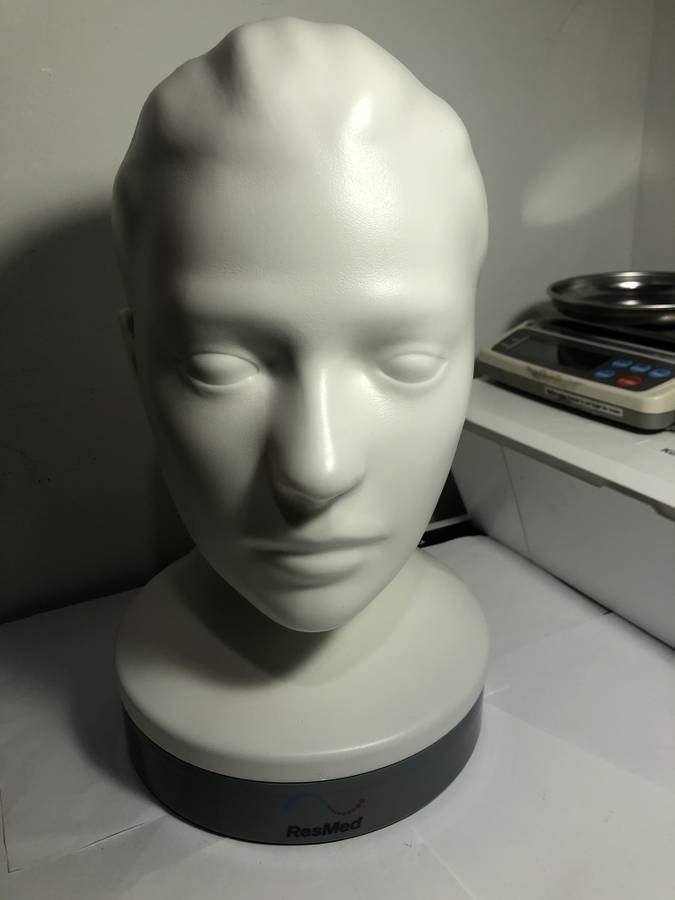 ResMed C-Pap Mannequin Bust Made Out of Durable Plastic