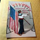 EARLY 1900s PATRIOTIC POSTCARD 83 AS PICTURED