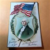 EARLY 1900s PATRIOTIC POSTCARD LOT583 AS PICTURED