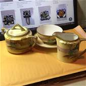 Vtg Nippon Hand Painted Creamer & Sugar Set as Pictured