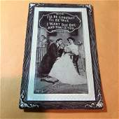 Early 1900s Romantic Humor Postcard 503 as Pictured