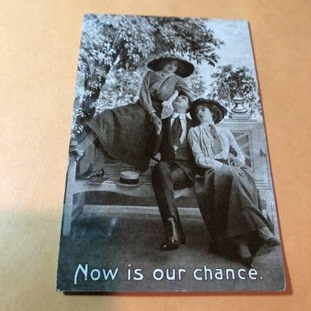Early 1900's Romantic Humor Postcard #198 as Pictured.