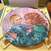 Edna Hibel Plate Kathleen  Child Royal Doulton 1981