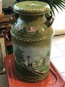 Antique Folk Art Milk Can Preowned from an Estate...