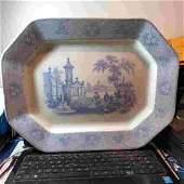 Antique 1840s W ADAMS & Sons STAFFORDSHIRE-Transferware