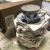 18-Vtg Blue Danube Tea Cups & Saucers Sets (36-Pieces)