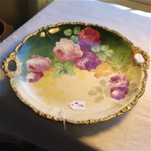 "Vintage Limoges France Hand Painted Plate 10.5"" Signed."