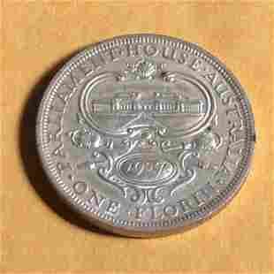 Australia 1927 Sterling Silver Florin Coin EF Condition