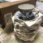 18-Vintage Blue Danube Tea Cups & Saucers Sets 36-Pcs