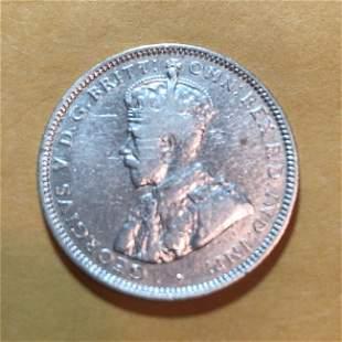 1925 AUSTRALIA King George-V KANGAROO Silver Shilling