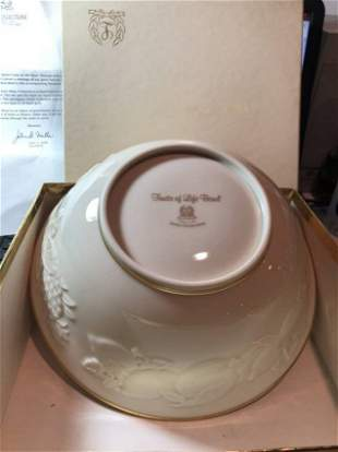 "Lenox ""Fruits of Life"" 9"" Serving Bowl New in Box...."