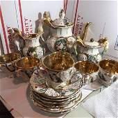 Mid-Century Capodimonte Angel Cherub Porcelain Tea Set