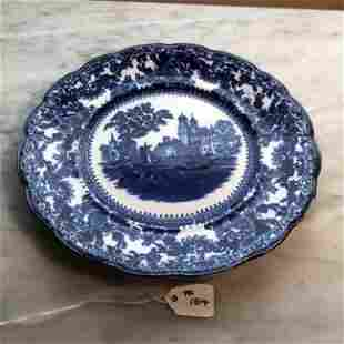 "Vintage Flow Blue 8.25"" Diameter Plate Preowned..."