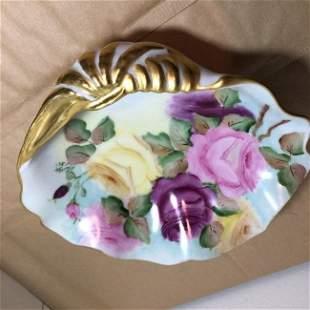 Vintage M. Goldy Hand Painted Prototype Seashell Bowl..